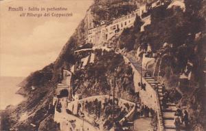 Italy Amalfi Salita in Portantina all'Albergo dei Cappuccini