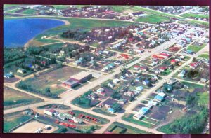 Manitoba Aerial View Town of SHOAL LAKE Chrome 1950s-1970s