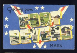 Fort Devens, Ayer, MA/Mass/Massachusetts Postcard, Greetings Multi-View