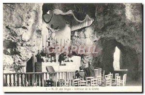 Postcard Old N D Angels Cave Interior