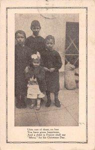 Christmas Greetings McAll Mission France Orphans Vintage Postcard JF686417