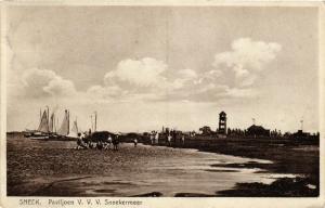 CPA SNEEK Paviljoen V.V.V. Sneekermeer NETHERLANDS (604629)