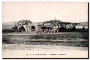 Old Postcard Konigstein Land of Exercise