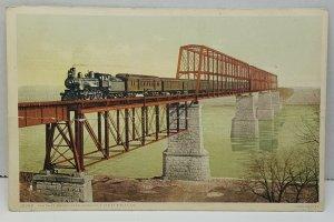 Santa Fe Bridge Sibley Missouri Vintage Postcard
