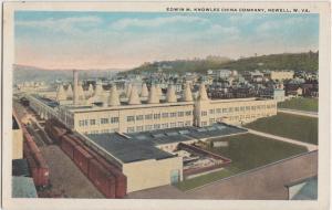 West Virginia WV Postcard c1920 NEWELL Edwin M. KNOWLES China Company Kilns
