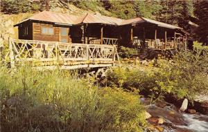 Cimarron New Mexico 1960s Postcard Fish Camp Waite Philips Fishing Lodge