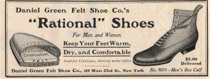 1903 Rational Shoes Original Print Ad 2T1-47