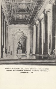 ALEXANDRIA , Virginia , 1910-30s ; Masonic National Memorial, Hall Interior