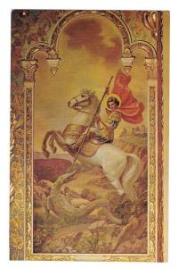 St George Icon Saint Sophia Cathedral Los Angeles CA Postcar