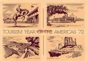 TOURISM YEAR OF THE AMERICAS '72 Rodeo Riverboat Grand Canyon Continental-size