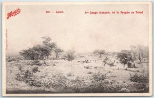 FRENCH CONGO Africa Postcard Village Panoramic View MAGGI Advertising Unused
