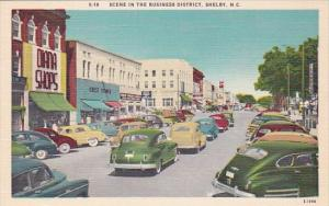North Carolina Sylva Street Scene With Old Cars In The Business District