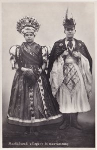 Mezokovesdi Volegeny es Menyasszony Hungary RPC Postcard