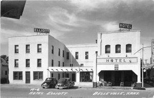 Belleville Kansas Autos Cook Hotel Elliott M-6 1951 RPPC Photo Postcard 21-6013