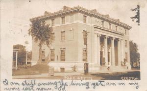 Iowa Ia Postcard Real Photo RPPC 1906 CRESTON Post Office Building