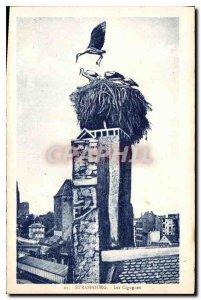 Postcard The Old Strasbourg Storks