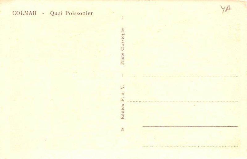 Quai Poissonier Colmar France Unused