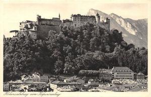 Hohensalzburg vom Kapuzinerberg Castle Partialview Hotel Pension