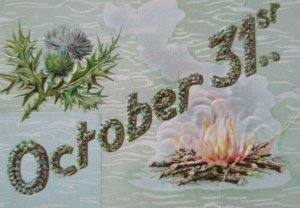 Vintage Halloween Postcard Gottschalk Dreyfuss & Davis Series 2040 Ft Wayne 1909