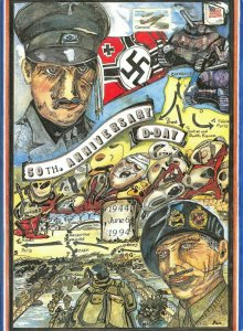 Limited Edition Giant Postcard Normandy D-Day 50th Anniversary Joan Main OS220
