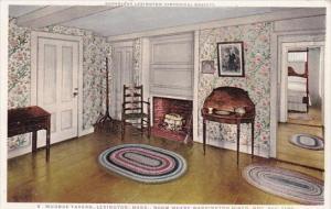 Room Where Washington Dined Nov 5th Munroe Tavern Lexington Massachusetts