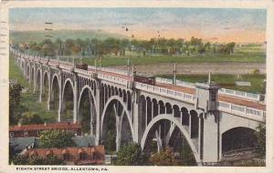 Pennsylvania Allentown Eight Street Bridge 1921 Curteich
