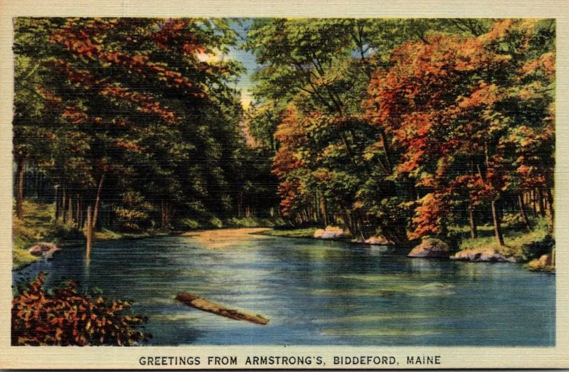 Maine Greetings From Armstrong's Biddeford