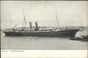 Steamship Royal Mail Steam Packet RMSP Magdalena c1910 Postcard