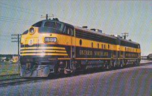 Ontario Northland Railroad FP7-A Locomotive #1500 At Cochrane