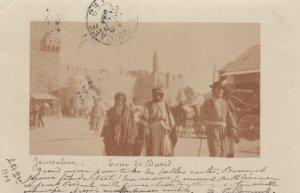 RP: JERUSALEM , Israel , 1904 ; Street view , Tour de David