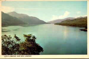 Scotland Loch Lomond and Ben Lomond
