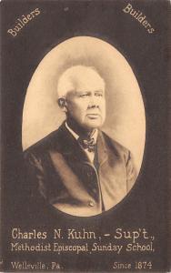 Wellsville Pennsylvania~Charles N Kuhn~Methodist Episcopal Sunday School~1908 PC