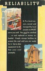 Advertising Coca Cola Delivery 1940s artist impression Teich Postcard 21-2150