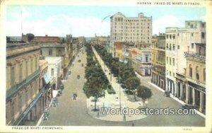 Paseo de Marti o Prado, Promenade Habana Cuba, Republica De Cuba 1926
