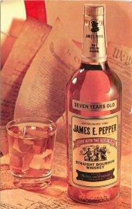 Advertising Bourbon Whiskey interior 1950s Postcard 12235