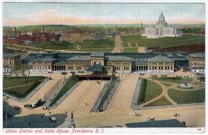 Providence, R.I., Union Station and State House