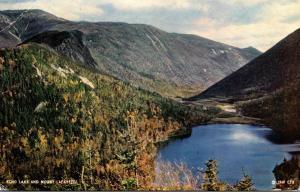 New Hampshire White Mountains Franconia Notch Echo Lake and Mount Lafayette