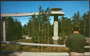 NC Clingman's Dome Tower Great Smoky Mountains National Park Chrome 1950s-1970s