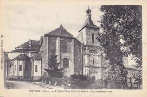 L'Eglise Saint-Hilaire-Le-Grand, Facade Laterale Nord, Poitiers (Vienne), Fra...
