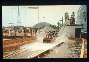 Hull, Massachusetts/MA Postcard, Water Ride, Paragon Park, Nantasket Beach