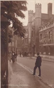 Christ's College Cambridge England Real Photo