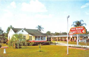Ocala FL Reid Manor Motel Postcard