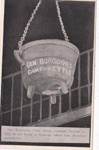 Vermont Bennington General Burgoyne's Camp Kettle