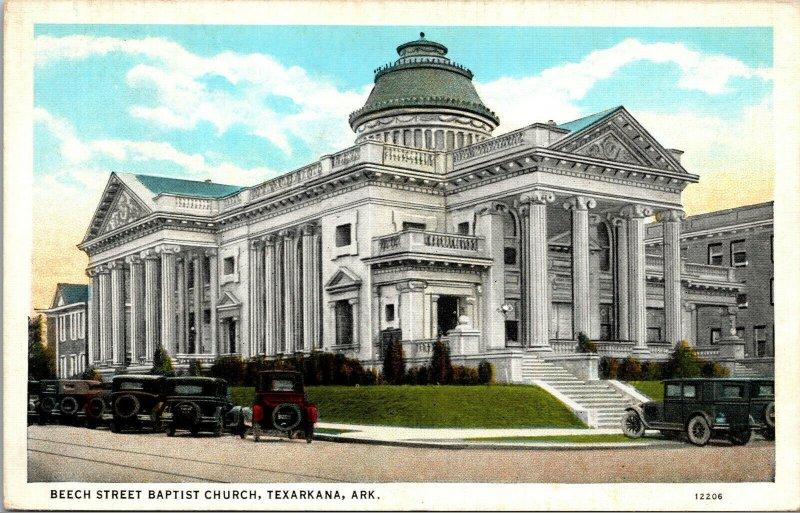 Vtg 1930s Beech Street Baptist Church Texarkana Arkansas AR Postcard
