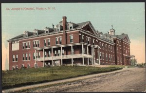New Hampshire NASHUA St. Joseph's Hospital Divided Back 1907-1915 era