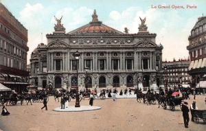 La Grand Opera, Paris, France, Early Postcard, Unused