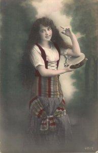 Beautiful Victorian Lady Jugendstil RPPC 06.67