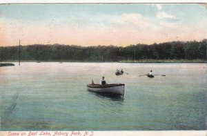 ASBURY PARK , New Jersey , 1907 ; Scene on Deal Lake, row boats