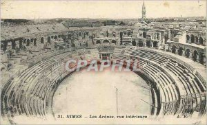 Postcard Old Nimes Arenes The inside view