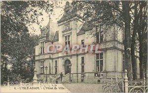Old Postcard L'Isle-Adam Town Hall